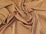 Plain Acetate Stretch Suiting Dress Fabric  Caramel