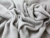 High Brushed Pile Textured Virgin Wool Coat Weight Dress Fabric  Silver Grey