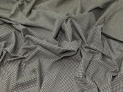 Stretch Cotton Suiting Fabric  Black & Beige