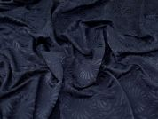 Textured Jacquard Fabric  Navy