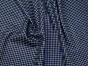 Plaid Check 100% Wool Suiting Dress Fabric  Blue