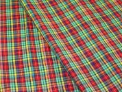 Italian Woven Plaid Check Cotton Lawn Dress Fabric  Multicoloured