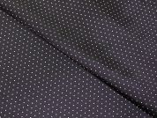 Spotty Patterned Viscose Lining Dress Fabric  Black & White