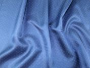 Spotty Patterned Viscose Acetate Lining Dress Fabric  Blue