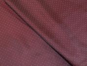 Spotty Patterned Viscose Acetate Lining Dress Fabric  Burgandy