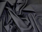 Portuguese Wool Blend Stretch Suiting Dress Fabric  Black
