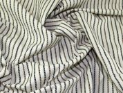 Portuguese Linen & Cotton Blend Pinstripe Suiting Dress Fabric  Beige