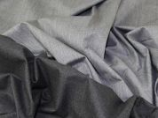 Portuguese Poly Viscose Stretch Reversible Suiting Dress Fabric  Grey