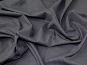 Portuguese Pinstripe Stretch Suiting Dress Fabric  Dark Grey