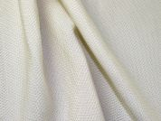 Textured Weave Sateen Crepe Dress Fabric  Cream