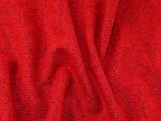 Italian Loop Texture Wool Blend Dress Fabric  Red & Black