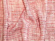 Spanish Tweed Stretch Suiting Dress Fabric  Red