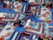 Stretch Polyester Crepe Fabric  Sapphire