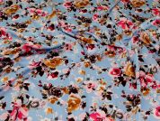 Stretch Polyester Crepe Fabric  Wedgewood