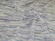 Embroidered Georgette Fabric  Blue