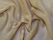 Plain Mesh Fishnet Dress Fabric  Beige