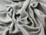 Textured Wool Blend Heavy Coat Weight Dress Fabric  Grey