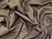 Pique Stretch Cotton Dress Fabric  Earth Brown