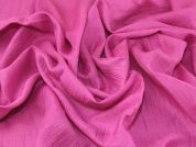 Crinkle Texture Linen Blend Dress Fabric  Fuchsia Pink