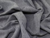 Wool Tweed Coating Fabric  Navy Blue