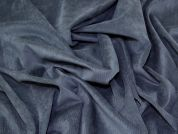 Stretch Needlecord Fabric  Petrol Blue