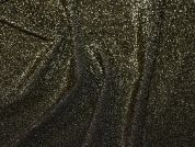 All Over Lurex Stretch Jersey Knit Dress Fabric  Gold on Black