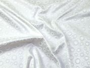 Stretch Satin Jacquard Fabric  Ivory
