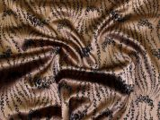 Stretch Satin Jacquard Fabric  Bronze