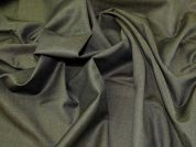Virgin Wool Mohair Suiting Fabric  Olive Green
