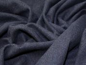 Virgin Wool Coating Fabric  Deep Blue