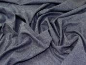 Linen Polyester Suiting Fabric  Blue