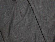 Portuguese Virgin Wool Blend Stretch Suiting Dress Fabric  Grey & Damson