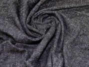 Wool & Silk Coating Fabric  Navy & Brown