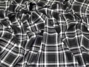 Brushed Check Fabric  Grey