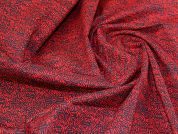 Stretch Cotton Sateen Fabric  Red & Navy