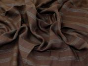 Textured Linen Fabric  Earth Brown