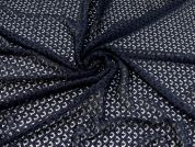 Guipure Lace Fabric  Navy