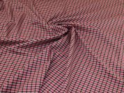 Stretch Suiting Fabric  Pink & Red