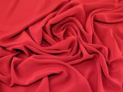 Plain Polyester Crepe Dress Fabric  Ruby Red