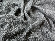 Italian Reversible Boucle Textured Coat Weight Dress Fabric  Charcoal Grey