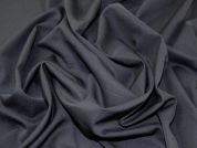 Italian Polyester & Wool Blend Suiting Dress Fabric  Black