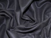 Italian Wool Melton Coat Weight Dress Fabric  Black