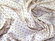 Dotty Print Cotton Lawn Dress Fabric  Cream