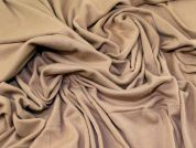 100% Cotton Super Soft Stretch Jersey Knit Dress Fabric  Camel