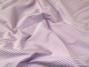 Italian Woven Pinstripe Stretch Cotton Shirting Dress Fabric  Shell Pink