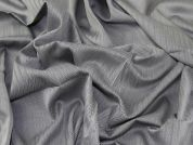 Italian 100% Cotton Herringbone Weave Suiting Dress Fabric  Silver Grey
