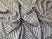 Italian Woven Pinstripe Cotton Shirting Dress Fabric  Beige & Cream