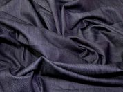 Italian Plain Cotton Denim Dress Fabric  Dark Blue