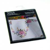 Stitch Garden Stamped Cross Stitch Tablecloth Kit Garden