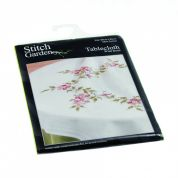 Stitch Garden Stamped Cross Stitch Tablecloth Kit Wild Rose